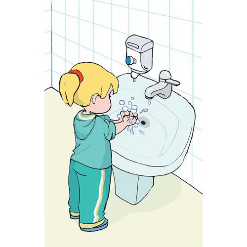 Figuras de niños lavándose las manos - Imagui